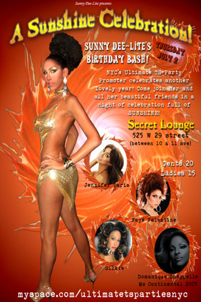 sunnydeelitebirthdayflyer Come Celebrate Sunny Dee Lites Birthday with Hostess Miss Jennifer Paris!