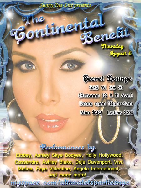 continentalbenefit Continental Benefit for Sunny Dee Lite Thursday at Secret Lounge!