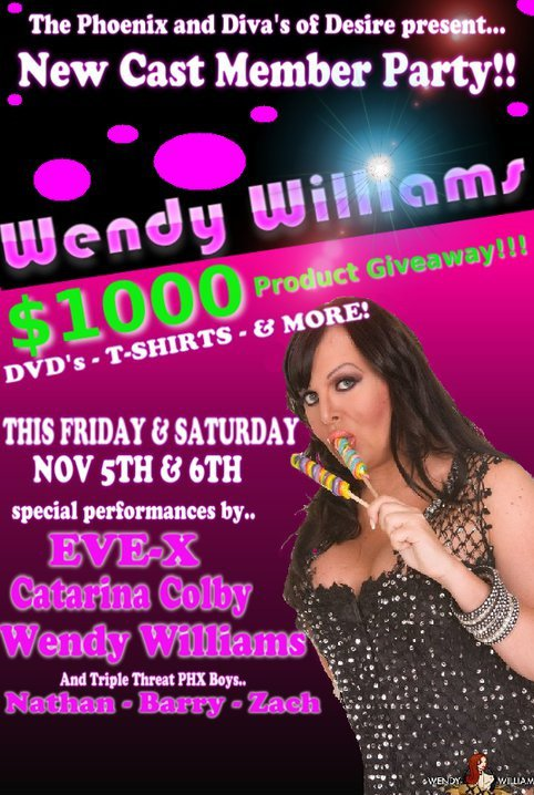 wendy williams flyer Shemale Pornstar Wendy Williams At The Phoenix Tonight And Saturday!