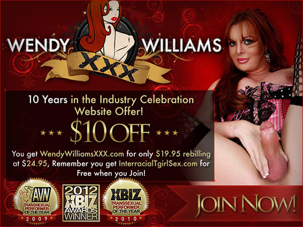 wendy Wendy Williams Celebrates 10 Years At The Top Of Shemale Porn!