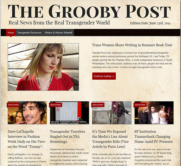 groobypost The Grooby Post   Real News From The Real Transgender World!